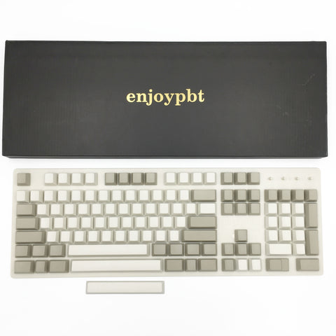 enjoypbt blank pbt keycap set beige box set