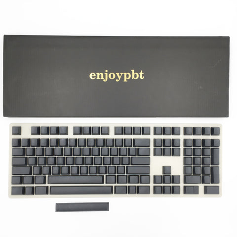 enjoypbt blank pbt keycap set black box set