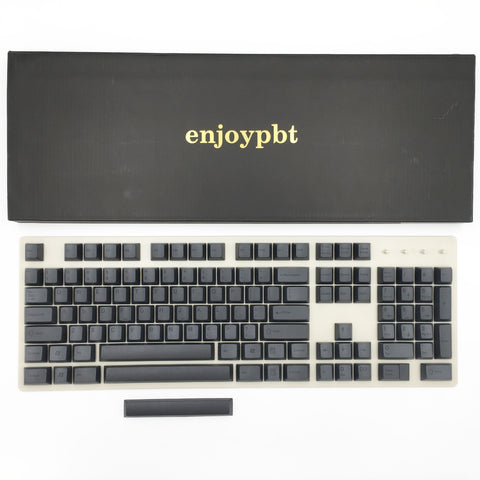 enjoypbt pbt dye sublimation keycap set black box set
