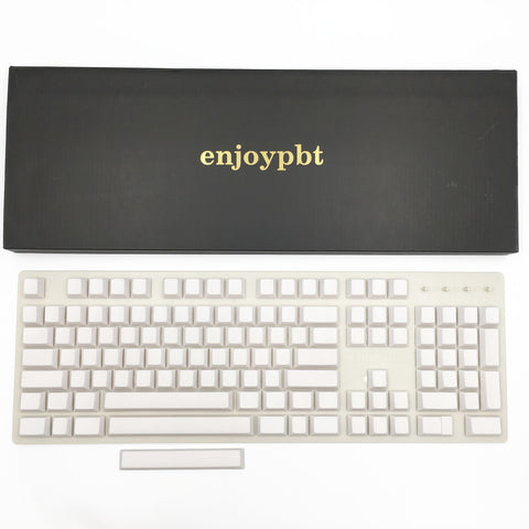 enjoypbt blank keycap white box set