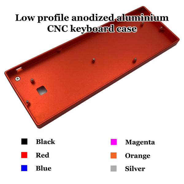 GH60 Low profile aluminium CNC keyboard case