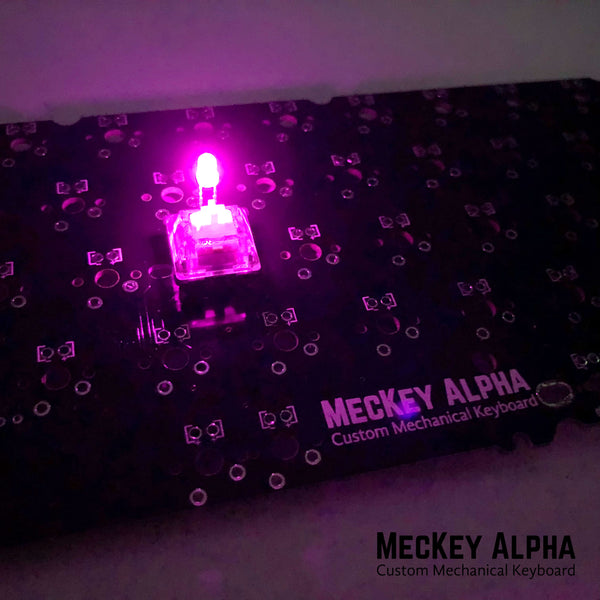 Magenta 3mm in-switch LED
