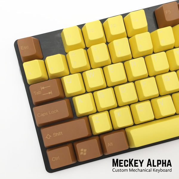 Tai Hao ABS doubleshot keycap set for cherry MX mechanical keyboards in OEM profile in sun flower style SKU C01YL202