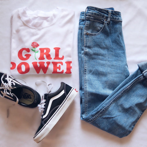 Girl Power Tee, apparel - Hazy Lines