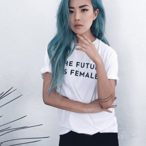 The Future Is Female Top, apparel - Hazy Lines