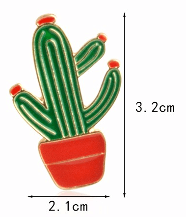 Cactus Pin, accessory - Hazy Lines