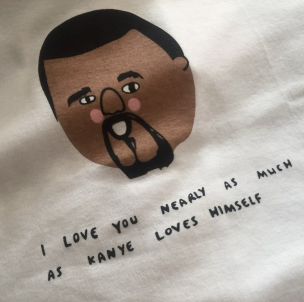 I Love You Nearly As Much As Kanye Loves Himself Shirt, apparel - Hazy Lines