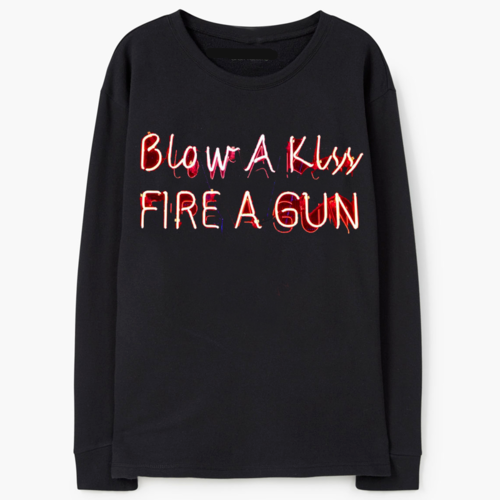 Blow A Kiss Fire A Gun Sweatshirt, apparel - Hazy Lines