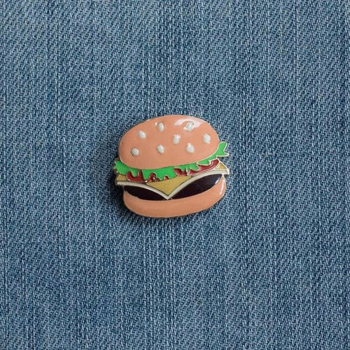 Hamburger Pin, accessory - Hazy Lines