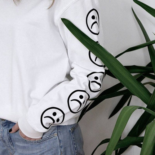 Sad Face Sweater, apparel - Hazy Lines