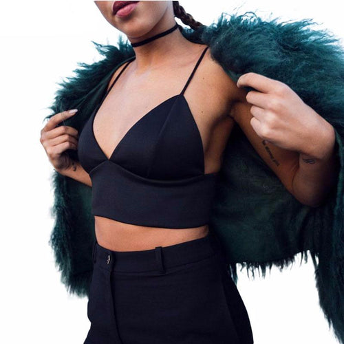 Black Bralette, apparel - Hazy Lines