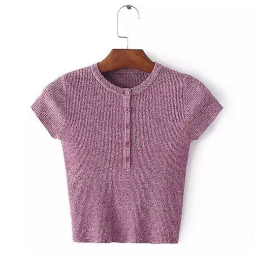KNITTED CROP TOP, apparel - Hazy Lines