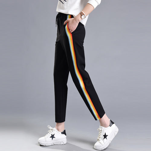 Rainbow Side Stripe Pants, apparel - Hazy Lines