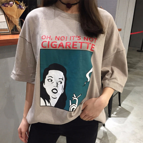 Oh No! It's Not Cigarette Shirt, apparel - Hazy Lines