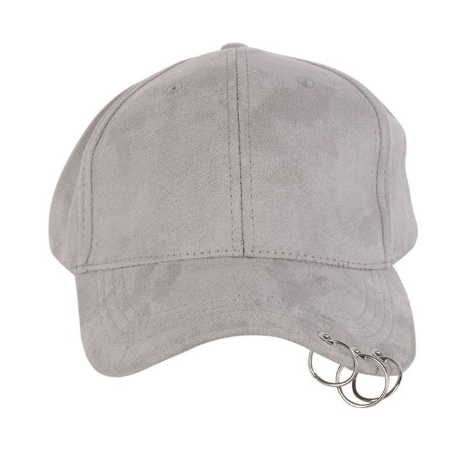 Baseball Cap with Rings, apparel - Hazy Lines