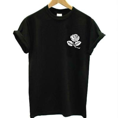 Rose Print Tee, apparel - Hazy Lines