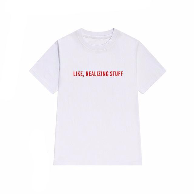 Like, Realizing Stuff Tee, apparel - Hazy Lines