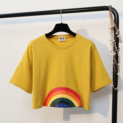 Rainbow Crop Top, apparel - Hazy Lines