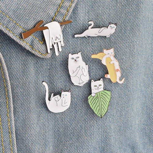 6 Pack Cat Pins, accessory - Hazy Lines