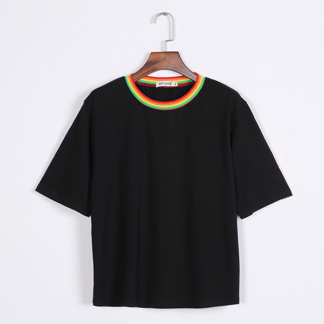 Rainbow Stripe Tee, apparel - Hazy Lines