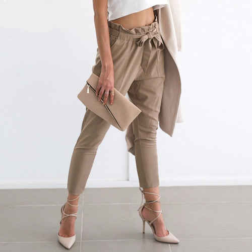 Paper Bag High Waisted Pants, apparel - Hazy Lines
