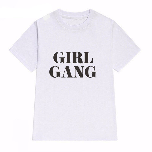 Girl Gang Graphic Top, apparel - Hazy Lines