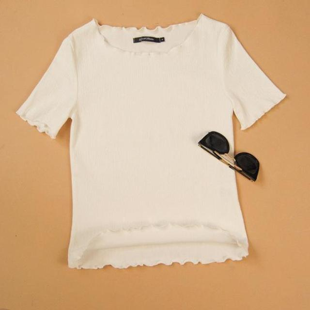 Loose Fitted Ruffle Top, apparel - Hazy Lines