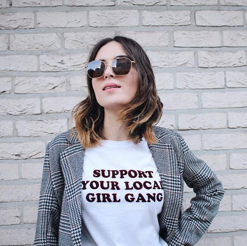 Support Your Local Girl Gang Tee, apparel - Hazy Lines