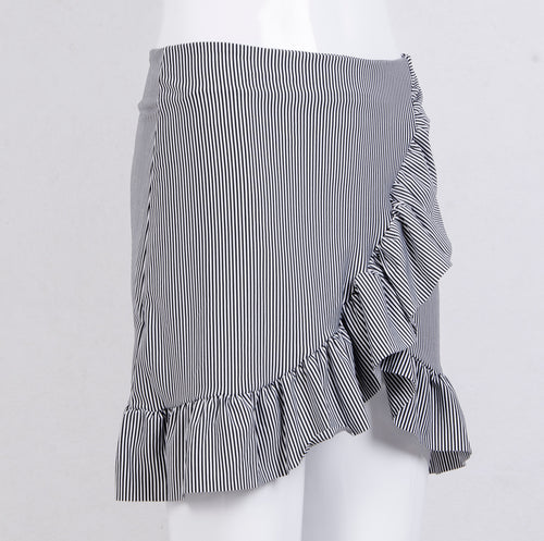 Striped Vintage Ruffle Wrap Skirt, apparel - Hazy Lines