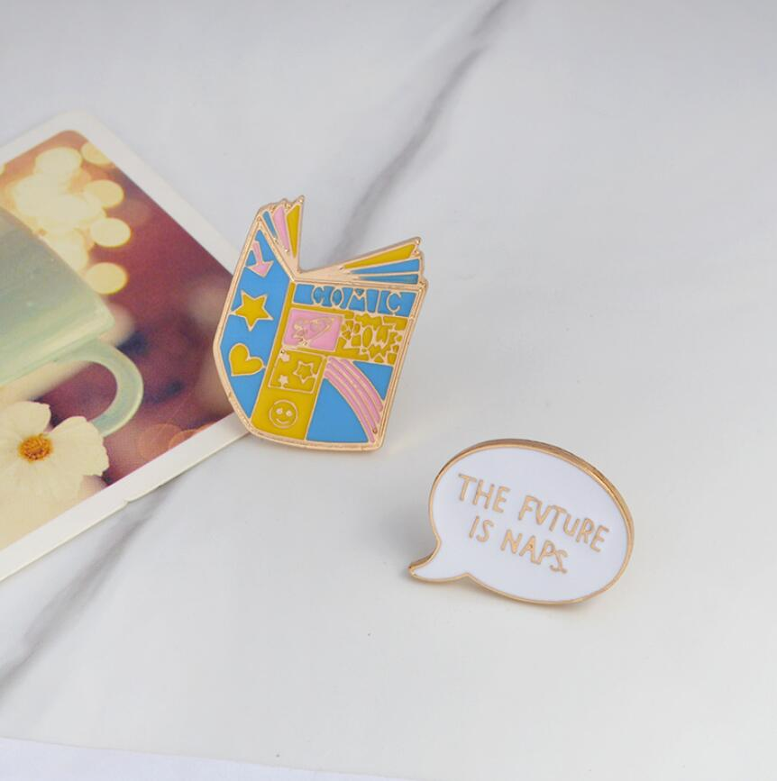 Books Pin Set, accessory - Hazy Lines