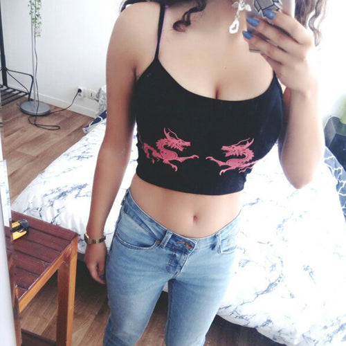 Asian Dragon Cropped Cami