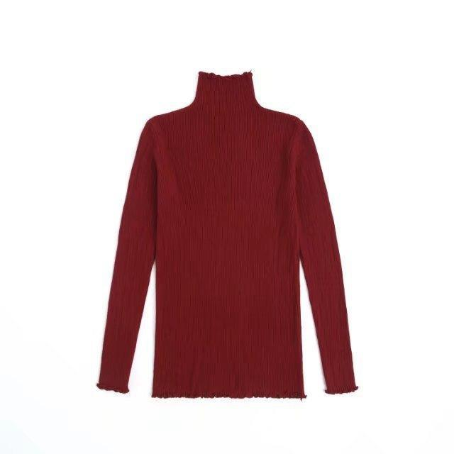 Turtleneck Knit Pullover, apparel - Hazy Lines
