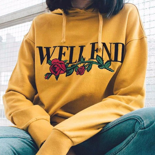 """Well End"" Hoodie, apparel - Hazy Lines"