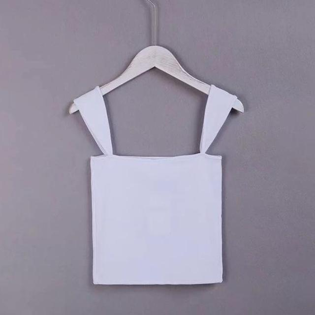 Ribbed Square Neck Crop, apparel - Hazy Lines