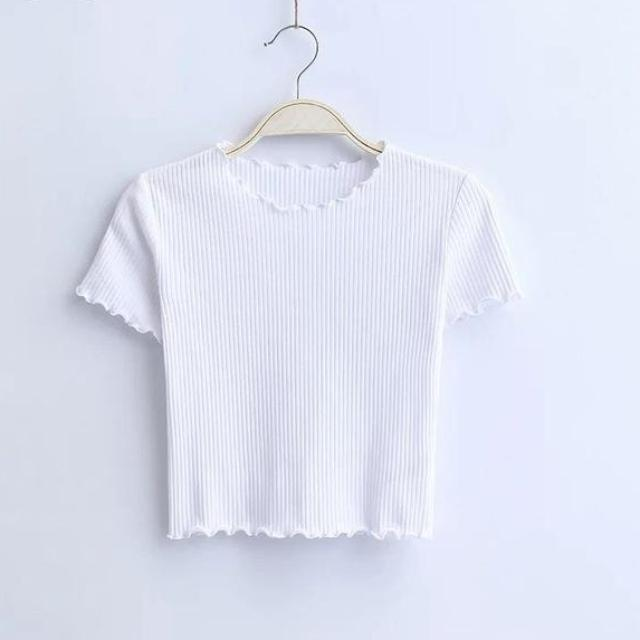 Crop Ribbed Top, apparel - Hazy Lines