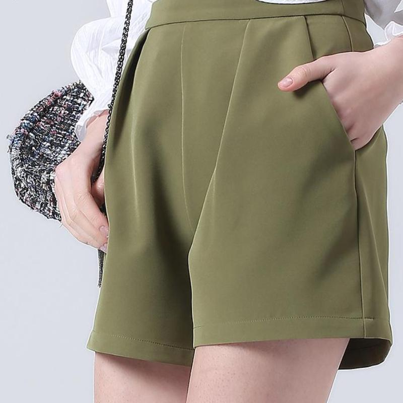 High Waist Crease Shorts, apparel - Hazy Lines