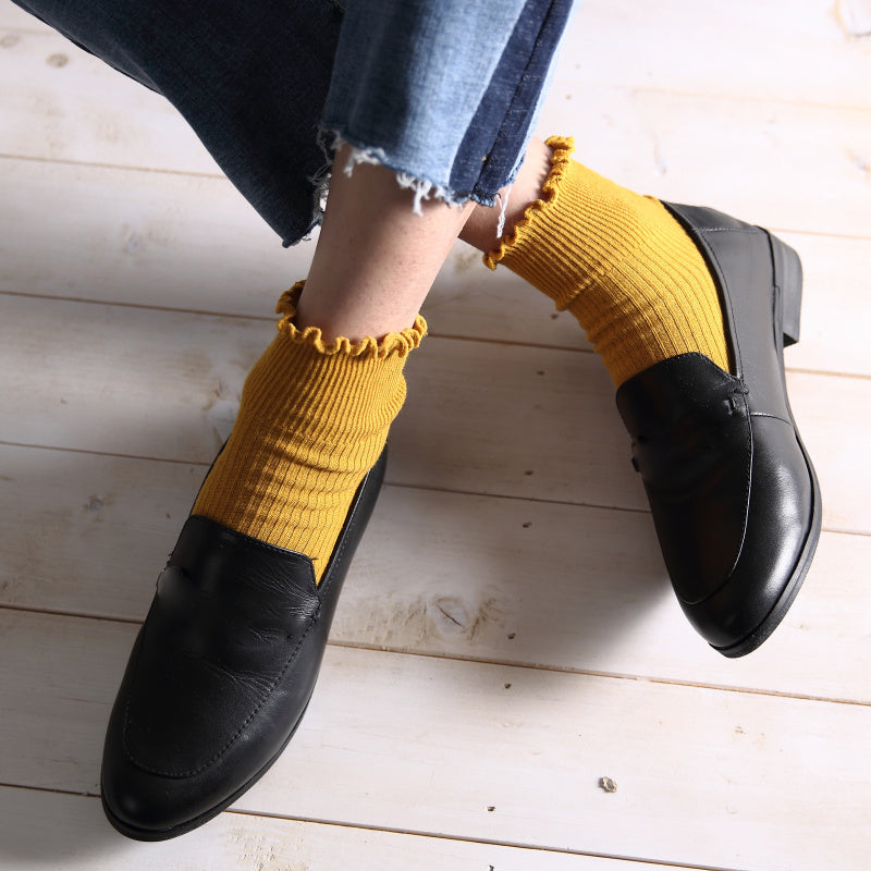 Ruffle Socks, accessory - Hazy Lines