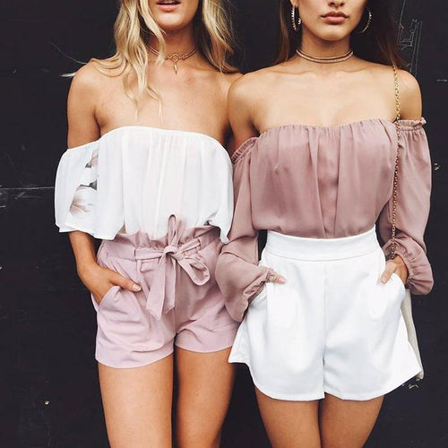 Jesslyn Off Shoulder Ruffle Blouse