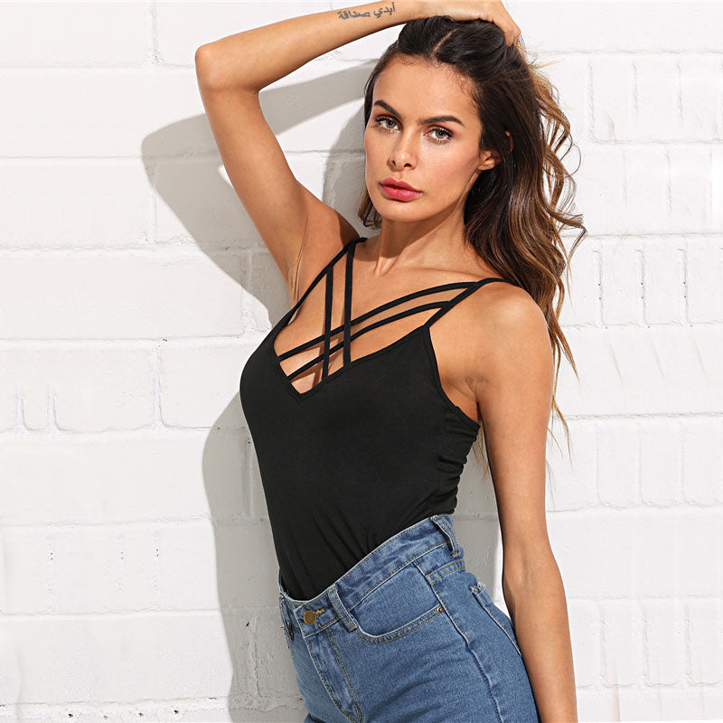 Criss Cross Front Cami, apparel - Hazy Lines