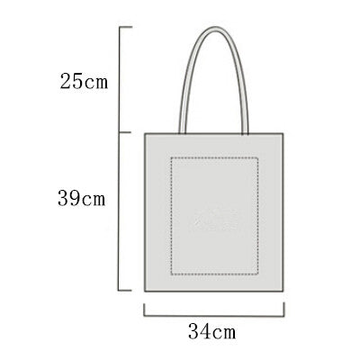 Plain Canvas Tote Bag with Zip