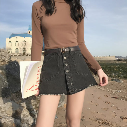 Denim Mini Skort
