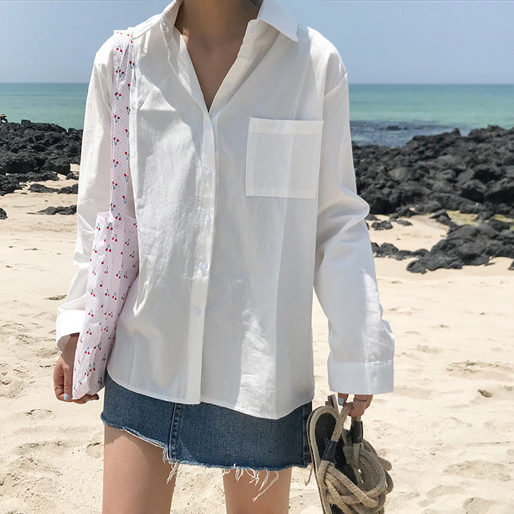 Loose Button Down Shirt