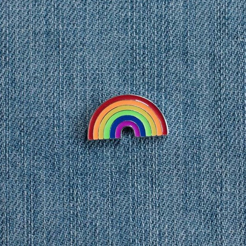 Rainbow Pin, accessory - Hazy Lines