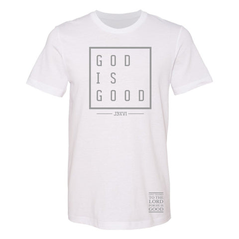 God is Good Block Tee (XS - 3XL) Available in Various Colors