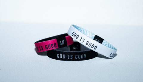 God is Good Elastic Wristband (3-Pack)