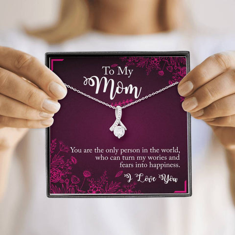 To My Mom I love you Alluring Beauty Necklace
