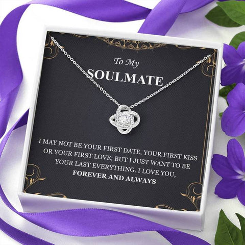 To My Soulmate I Love You Forever And Always Love Knot Necklace