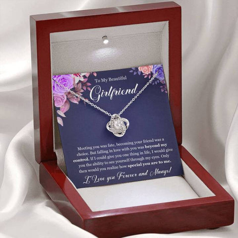 To My Beautiful Girlfriend Love Knot Necklace