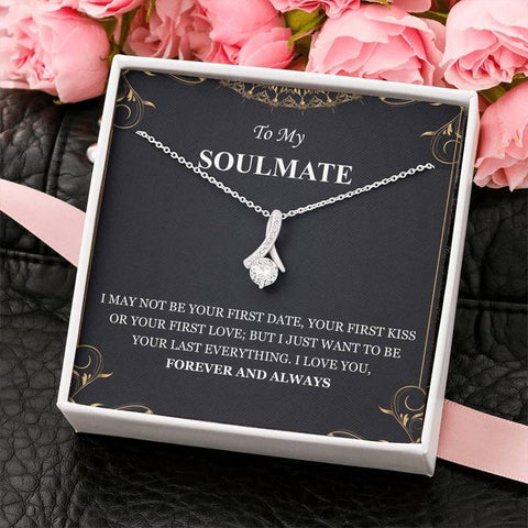 To My Soulmate I Love You Forever And Always Alluring Beauty Necklace