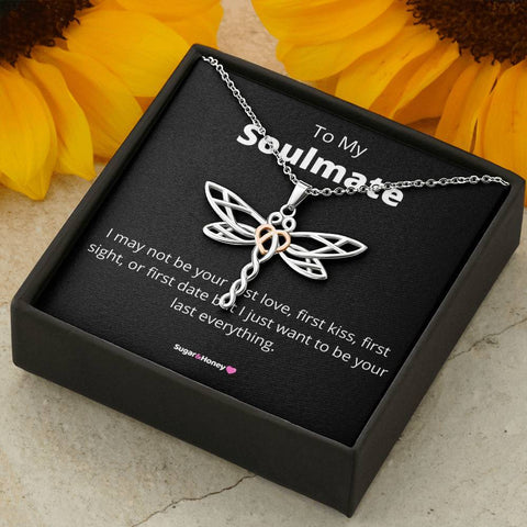 To My Soulmate Dragonfly Necklace